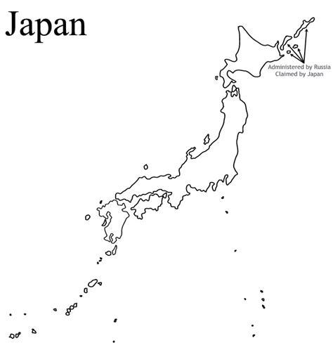 japan outline map  travel information