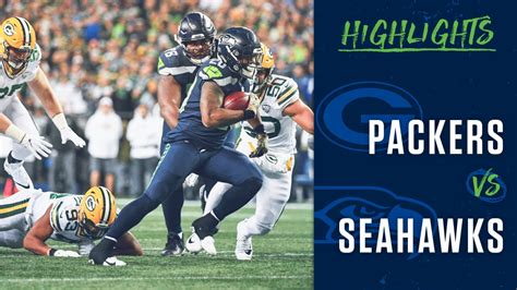 week  seahawks  packers highlights