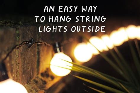 easy   hang string lights  christmas