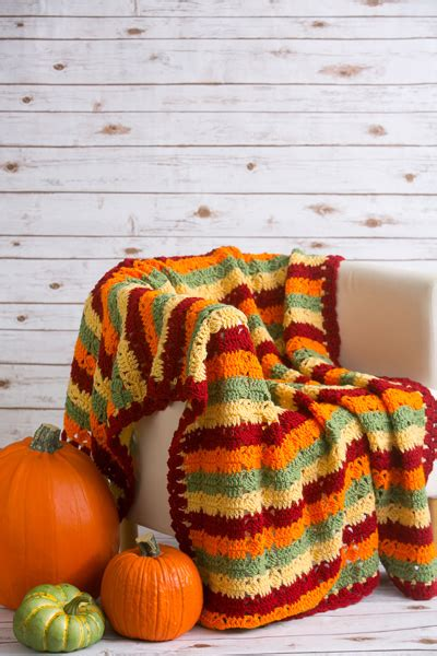 autumn fields throw   crochet