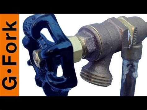 fixing faucets how to replace a garden hose faucet doovi