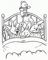 Coloring Bedtime Pages Rabbit Colouring Sheet Cartoon Draw Easter Goodnight Moon Mouse Night Fire Printable Child Bunnies Christmas Surfboard Simple sketch template