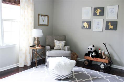 gray gold gender neutral nursery reveal erin spain