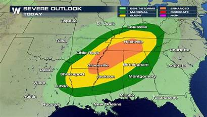 Severe Weather Monday Update Outlook
