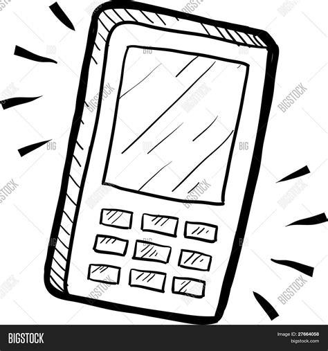 Kleurplaat Gsm by Mobiele Telefoon Tekening Vector En Foto Bigstock