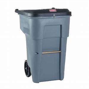 65 gallon secure document rollout container trashcans With document container