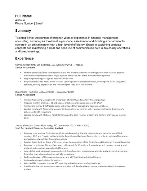 resume for an accountant free senior accounting resume template sample ms word cv