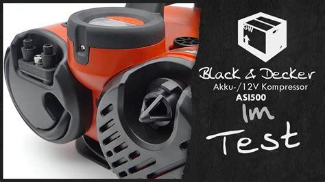 black decker asi500 akku 12v kompressor luftpumpe automatik im test 2017 unboxing