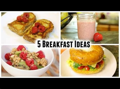 5 easy breakfast ideas youtube