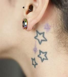 Tatouage Cou Homme : tatouage etoile cou ~ Nature-et-papiers.com Idées de Décoration