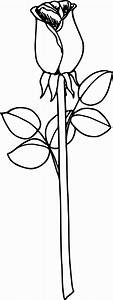 Simple Rose Printable Picture Coloring Page | Wecoloringpage