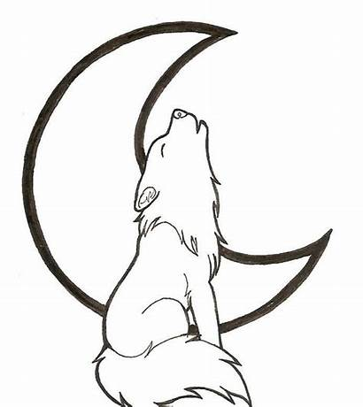 Coloring Wolf Pages Printable Howling