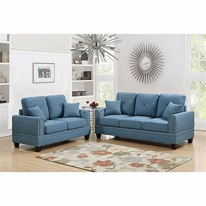 Sofa Living Piece Fabric Loveseat Venetian Sets