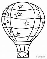 Balloon Air Outline Coloring Pages Clipartmag sketch template