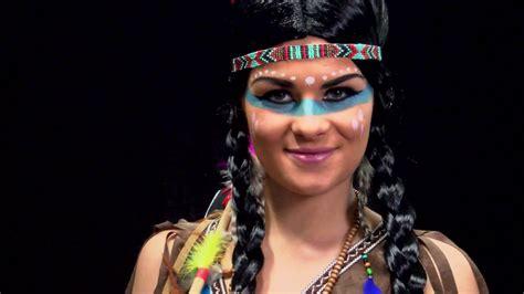karneval kostüme indianer indianerin make up karneval schmink tutorial