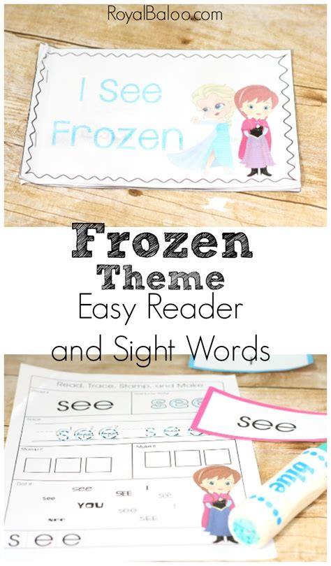 frozen themed printable early reader royal baloo