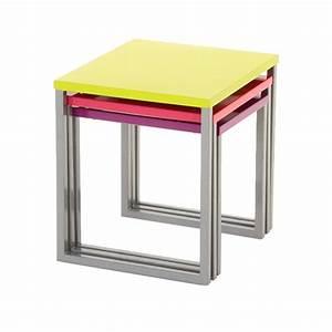 Table D Appoint Gigogne : lot de 3 tables d 39 appoint gigogne manaus multicolore meuble d 39 appoint eminza ~ Teatrodelosmanantiales.com Idées de Décoration