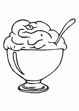 Ice Cream Coloring Pages Cone Clipart Printable Scoop Sundae Cartoon Eat Clip Cliparts Cup Sheet Popular Library Coloringhome sketch template