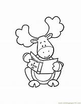 Moose Coloring Cartoon Printable Popular Getcolorings Coloringhome sketch template