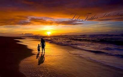 Wallpapers Father Son Sunset Beach Desktop Background
