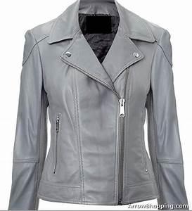 Ladies Footwear Size Chart Arrow Women Grey Fitted Biker Style Leather Jacket