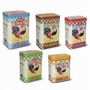 Boite De Rangement Alimentaire : set de 5 boites m tal coq natives la gamme accessoires de ~ Dailycaller-alerts.com Idées de Décoration