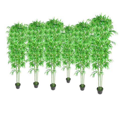 bamboo home decor bamboo artificial plants home decor set of 6 240017x