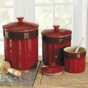 Canisters For Kitchen Counter by Chefs Stoneware Kitchen Canister Set 3 Pieces