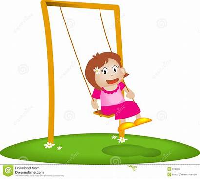 Swing Clipart Playing Royalty Background Clip Garden