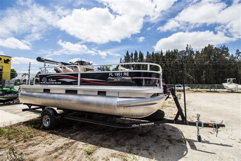 Pontoon Boats For Sale Miami by Used Tracker Pontoon Boats For Sale In Florida Boats