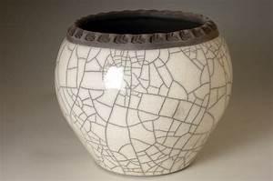 Cache Pot 6 inch Tall - Dodero Studio Ceramics: Raku