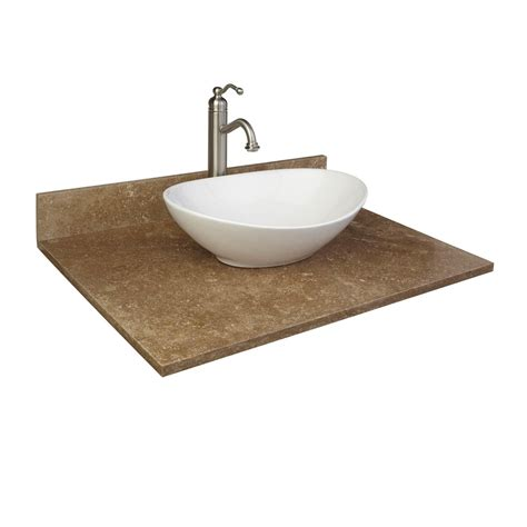 31 vanity top with sink 31 quot x 22 quot travertine vessel sink vanity top bathroom