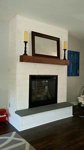 fireplace makeover diy whitewash panel shiplap bluestone