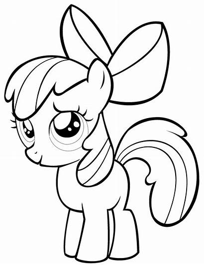 Pony Coloring Bloom Apple Pages Colorear Para