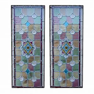 Victorian Intricate Stained Glass Panels - From Period
