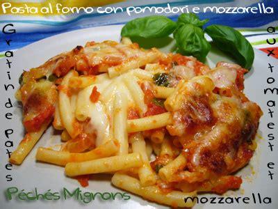 pasta al forno con pomodori e mozzarella p 233 ch 233 s mignons