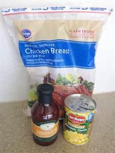 Hawaiian BBQ Chicken Crock Pot