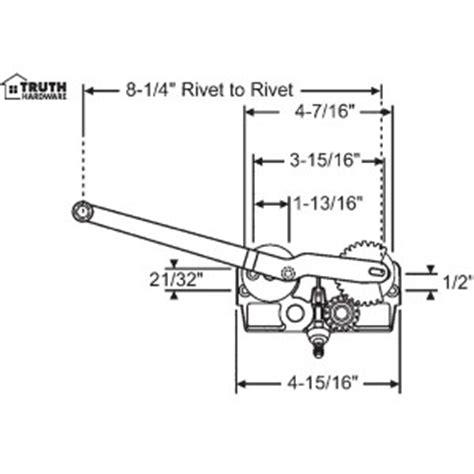 crestline vetter casement window operator single arm truth hardware pwdservice