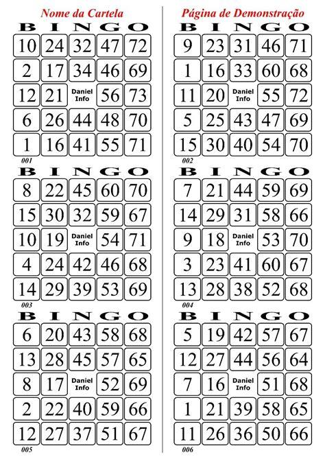 cartelas de bingo 1000 unidades estilo free imprimir 170 pg r 20 00 em mercado livre