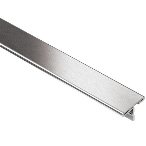 schluter reno  brushed stainless steel     ft