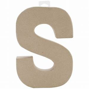 paper mache letter letter s With mache letters