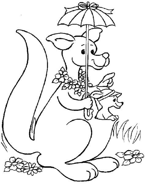 kangaroo drawing  kids  getdrawingscom