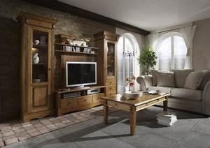 Möbel Nordischer Landhausstil : anbauwand wohnwand wohnzimmer tv regal landhausstil kiefer ~ Articles-book.com Haus und Dekorationen