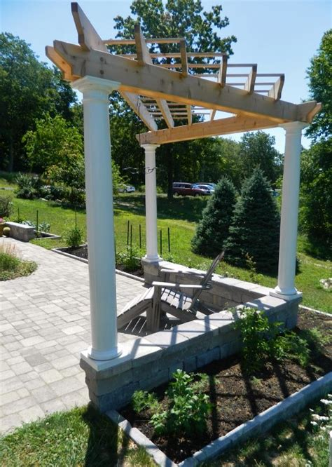 idea   cornertriangle pergola pergola