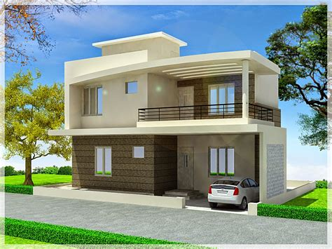 Simple Duplex House Design — Modern House Plan  Modern