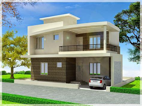 Simple Duplex House Design — Modern House Plan Modern