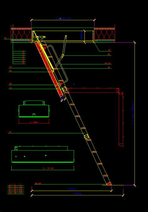loft ladder dwg section  autocad designs cad