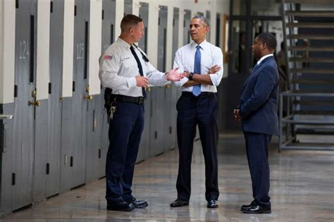 obama takes message of reform prison walls in
