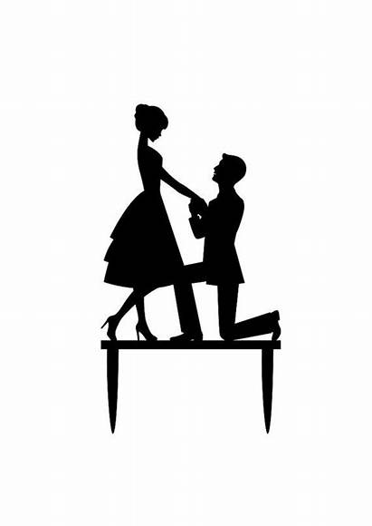 Cake Bride Topper Groom Silhouette Clipart Toppers