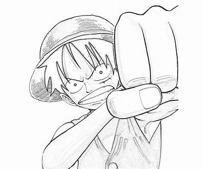 Piece Luffy Coloring Monkey Manga Getdrawings Recommended
